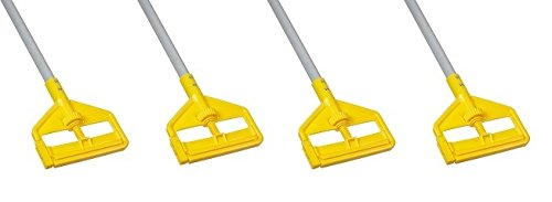 Rubbermaid Commercial Invader Side Gate Wet Mop Handle, 54-Inch, FGH145000000 (4 PACK)