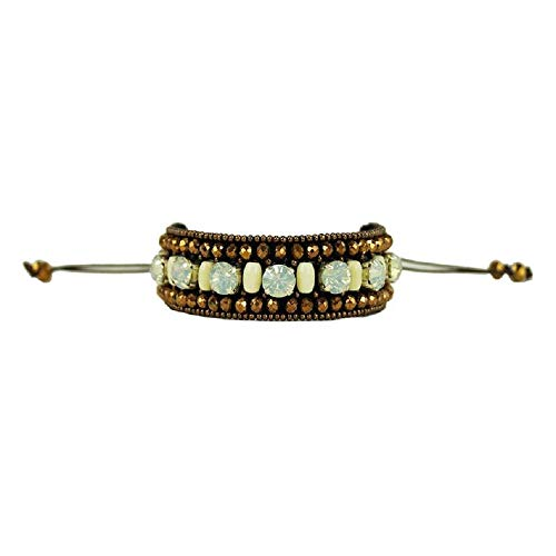 Beaded Bracelets Pewter - Pink Pewter Hera Beaded Drawstring Bracelet