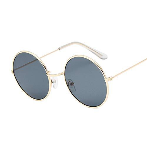2019 Retro Round Pink Sunglasses Women Brand Designer Sun Glasses For Women Alloy Mirror Female ()