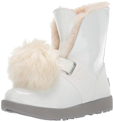 UGG Women's W Isley Patent Waterproof Fashion Boot White 5.5 M US