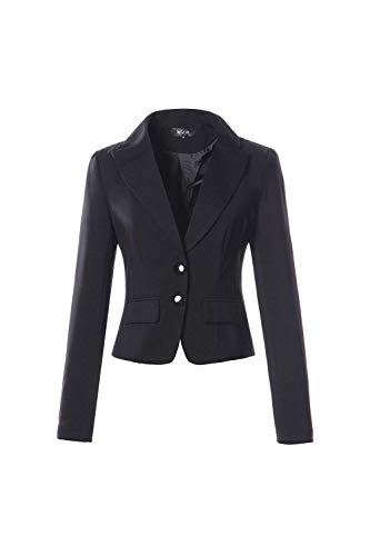 Sottile Blazer Lunga Di Bavero Donna Business Con Da Moda Prodotto Primaverile Plus Tailleur Autunno Camicia Manica Button Nero Giacca Ufficio PZfgnW