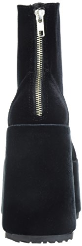 Black Women's 203 Camel Boot Velvet Demonia Ankle WOqXPXS