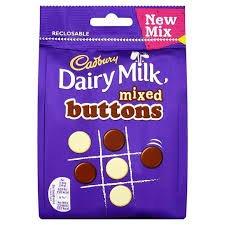 (Cadbury Dairy Milk Mixed Chocolate Buttons)