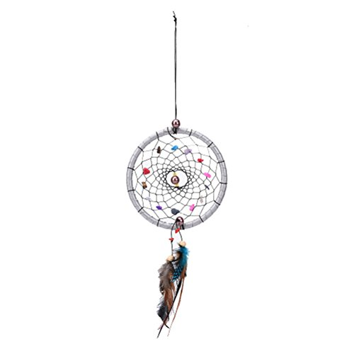 SNNplapla One Small Feather Handmade Dream Catcher Car Wall Door Hanging Decoration