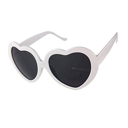 MuLuo Love Cute Heart Shape Design Unisex Sunglasses - Cute Shape Heart
