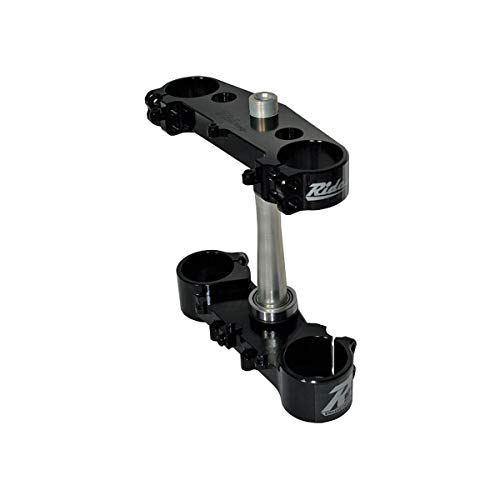 06-11 YAMAHA YZ250F: Ride Engineering Billet Triple Clamp Set (22mm Offset) (Black) - Offset Triple Clamp