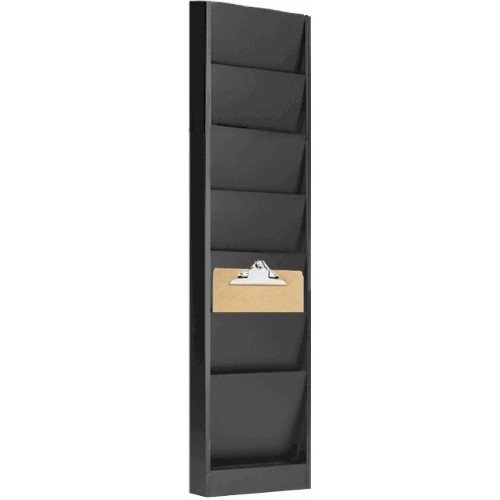 VICS Falcon Model 206 Wall Mounted Clipboard Storage Rack, 6 Pocket-Gray -