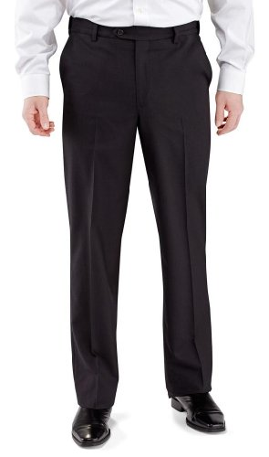Winthrop & Church Men's Plain Front Poly Rayon (French Fly Wool Trousers)
