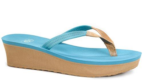 Ugg Australia Damen Robijn, Koraalrif Surf Blauw Leer