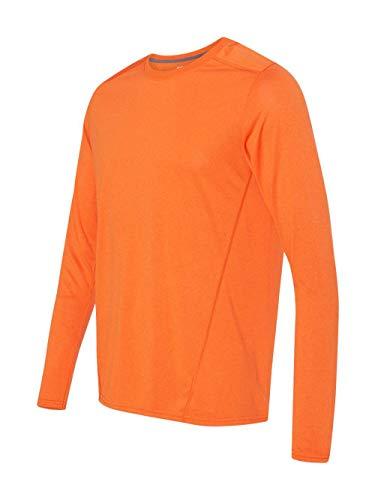 Gildan Adult AquaFX Long-Sleeve Performance T-Shirt. 47400 Marbled Orange M