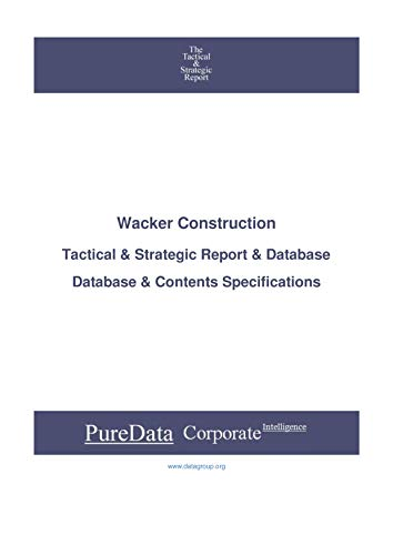 Wacker Construction: Tactical & Strategic Database for sale  Delivered anywhere in Canada