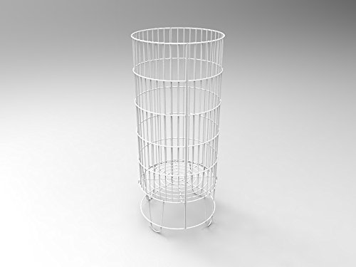 FixtureDisplays Bulk Bin Dump Bin Impulse-buy Wire Basket Stand Display 15574