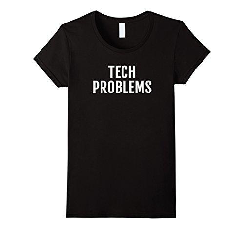 Womens Tech Computer T-Shirt Geek Computer Programmer Nerd Gift Tee Large Black