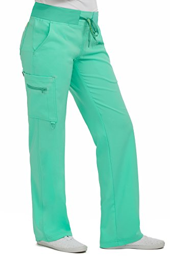 Med Couture Women's 'Activate' Transformer Scrub Pant, Sea Crystal, Large Tall (Crystal Sea Apparel)