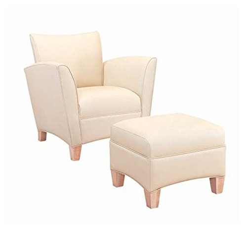 Corbin Club Chair (Corbin Club Chair & Ottoman with Wood Legs (Turf in Messenger Pattern))