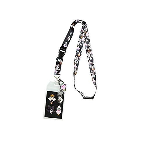 Disney Villains Line Up Collage Lanyard with ID Holder and Rubber Ursula -