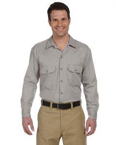 Melamine Finish - Dickies Men's 5.25 oz. Long-Sleeve Work Shirt, Silver Grey, S