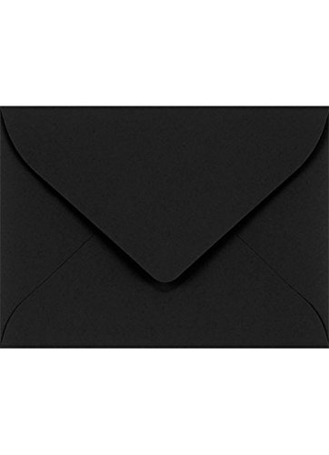LUXPaper #17 Mini Envelopes in 80 lb. Midnight Black for 2 9/16 x 3 9/16 Cards, Printable Envelopes for Gift Cards and Thank You