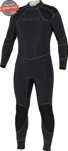 Bare 3mm Men's Elastek Full Stretch Scuba Diving Wetsuit (Black/Blue, XL)