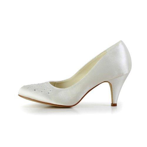 Jia 59494111 Beige Donna Col Tacco Wedding Scarpe Sposa ryA8UFvraq