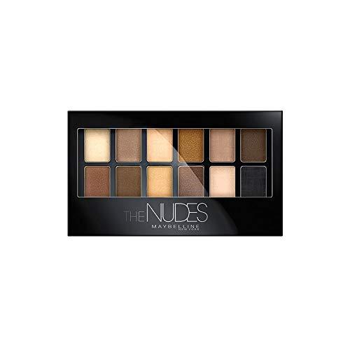 Maybelline The Nudes Lidschatten Palette, 12 Farben in einer Lidschattenpalette, sanfte und sinnliche Taupe-, Sand- und Bronzetöne, für den angesagten Nude-Look