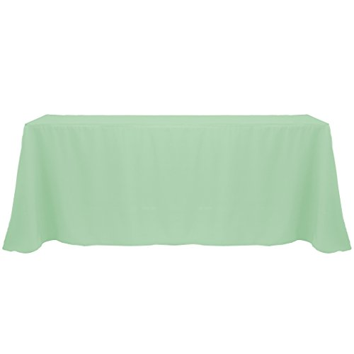 - Ultimate Textile (3 Pack) 90 x 132-Inch Rectangular Polyester Linen Tablecloth with Rounded Corners - for Wedding, Restaurant or Banquet use, Sage Green