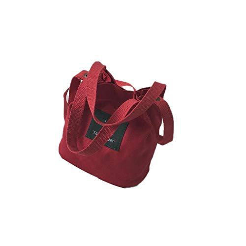 Cokil Women Casual Retro Letter Canvas Shoulder Bag Shoulder Bags
