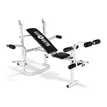 Klarfit Workout Hero Banco de musculación (Pesas, Curl Brazos y piernas, Butterfly,