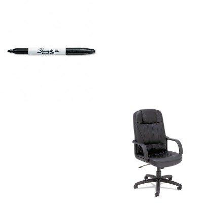 High Back Executive Glove - KITALESP41LS10BSAN30001 - Value Kit - Best Sparis Executive High-Back Swivel/Tilt Chair (ALESP41LS10B) and Sharpie Permanent Marker (SAN30001)