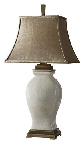 Uttermost 26737 32-3/4-Inch Tall Rory Ivory Table Lamp, Aged Glaze