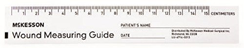Mckesson Brand Wound Measuring Guide, 6 Inch Paper, NonSterile, pad with 50