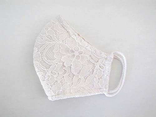 Amazon.com: Ivory Satin Lace Face Mask, Wedding Bridal ...