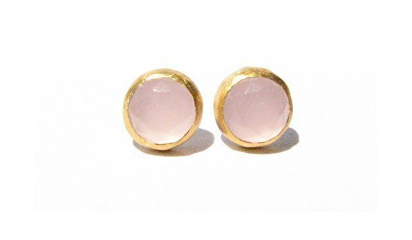within few days 4 mm Solid 24k Yellow Gold studs Pure Gold Post Earrings Made To Order .