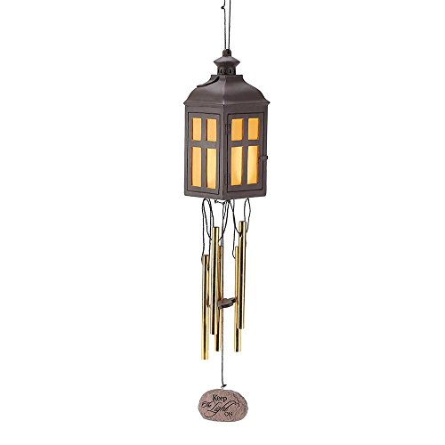 Keep the Light On Bereavement Memorial LED Light Up 18 inch Wind Chime For Sale