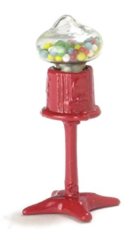 International Miniatures Dollhouse Miniature Old Fashioned Gumball Machine