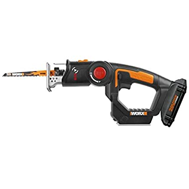 WORX WX550L 20V AXIS 2-in-1 Reciprocating Saw and Jigsaw with Orbital Mode, Variable Speed and Tool-Free Blade Change