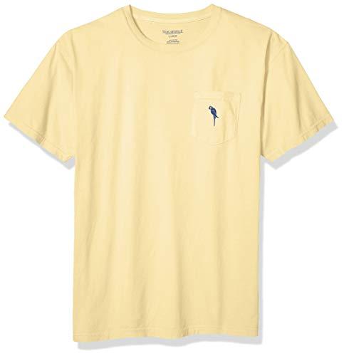 Margaritaville Men's Parrot ICON Pocket T-Shirt, Butter, Large ()