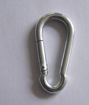 Ochoos Wholesales Rigging Hardware by 100PCS/3KGS/Carton 6X60 zinc Plated Steel Carabiner Spring DIN5299C snap Hooks