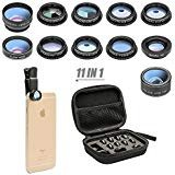 11 in 1 Cell Phone Camera Lens Kit Wide Angle Lens & Macro