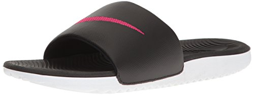 NIKE Women's Kawa Slide Sandal, Black/Vivid Pink, 9 B(M) US
