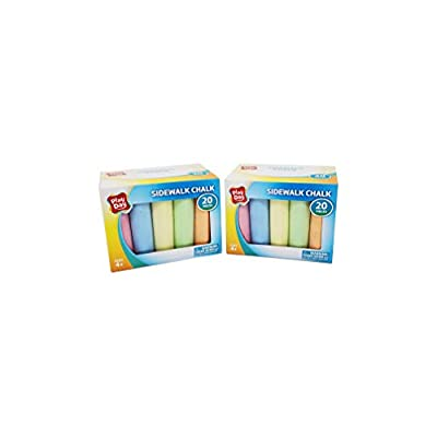 Play Day Sidewalk Chalk 20 Pieces (2 Pack): Office Products
