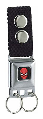 Buckle-Down Marvel Comics  keychain - Spider-man Face Full Color Accessory, -Multi-Colored, One Size