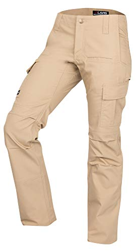 - LA Police Gear Women's Mechanical Stretch Ops Tactical Cargo Pants - Khaki-0-SHORT