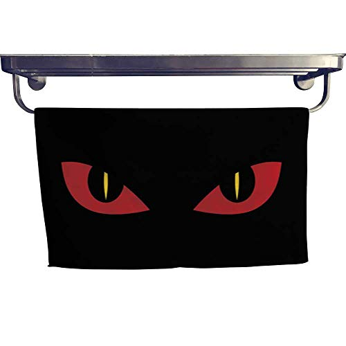 warmfamily Pool Gym Towels Evil Scary Eyes - Demon Snake Devil Nightmare Illustration Towel W 10