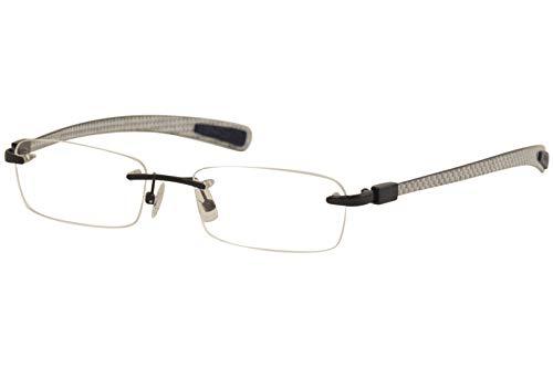 - Nautica Men's Eyeglasses N6381 N/6381 734 Navy/Grey Rimless Optical Frame 53mm