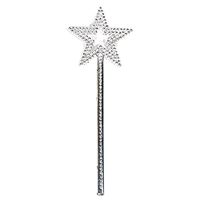 AKOAK Star Wand,13 Inches Silver Fairy Princess Angel Wand: Beauty