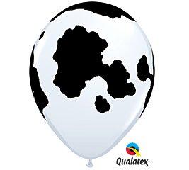 11'''' Cow Print Designer Latex Balloons - 100CT