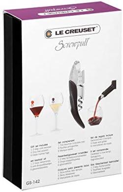 Le Creuset Sacacorchos sommelier 2 tiempos, Extrae el tapón de la botella de vino, Amarillo, Policarbonato, WT130