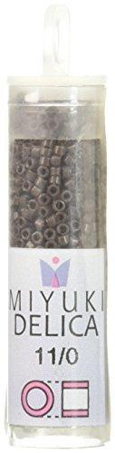 Miyuki DB734 Delica Seed Beads, 7.2g, Opaque Chocolate Brown