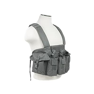 VISM CVAKCR2921U Ak Chest Rig - Urban Gray